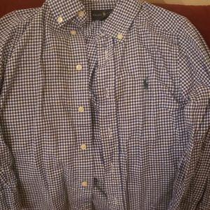 Blue plaid Ralph Lauren shirt